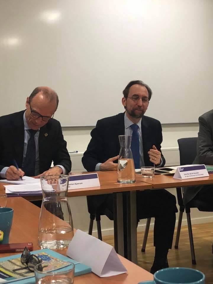 Hanna and Goliath deltar i rundabordssamtal med FN:s högkommissarie för mänskliga rättigheter