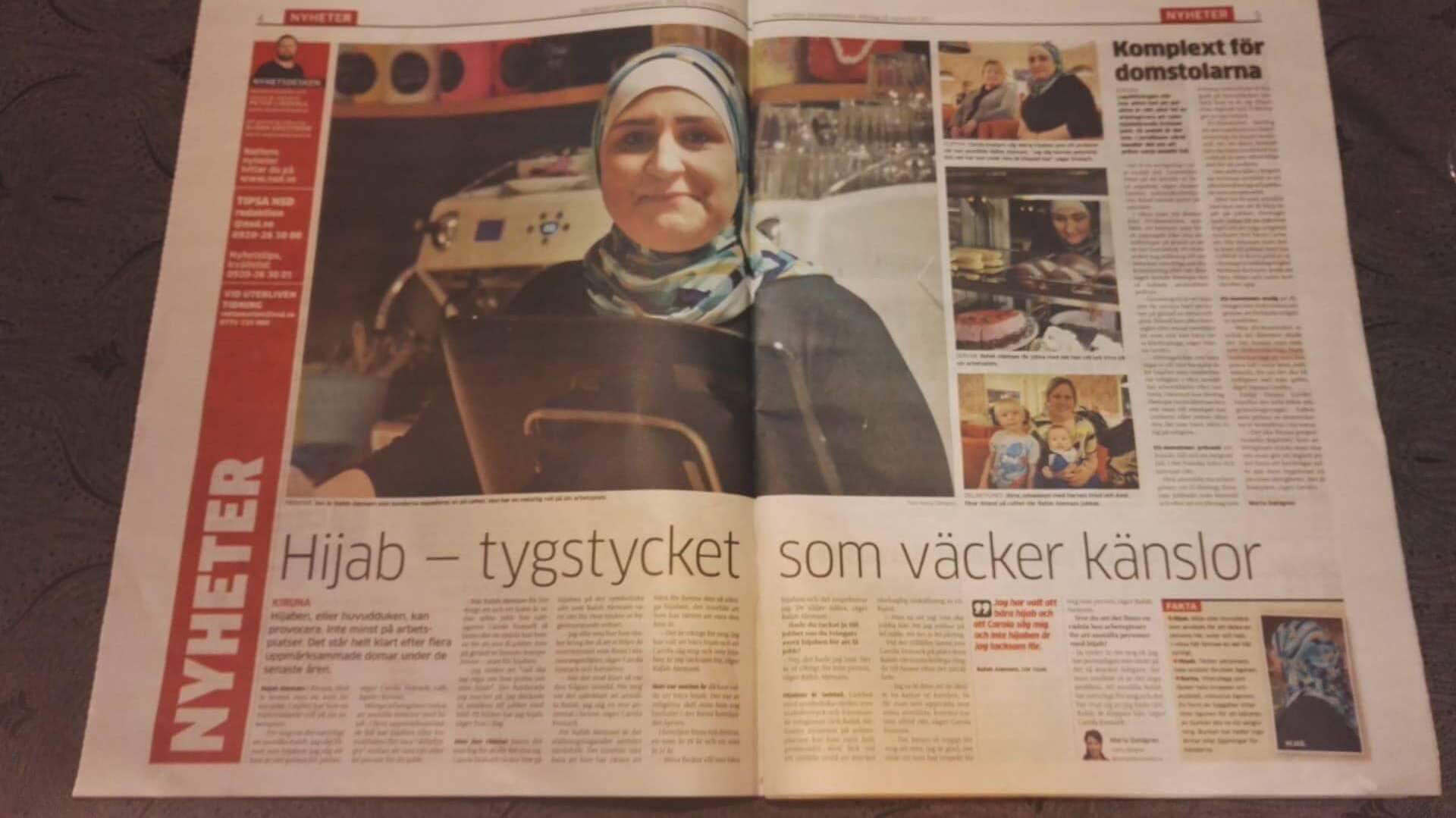 Intervju med Hanna and Goliath i Norrbottens största tidning
