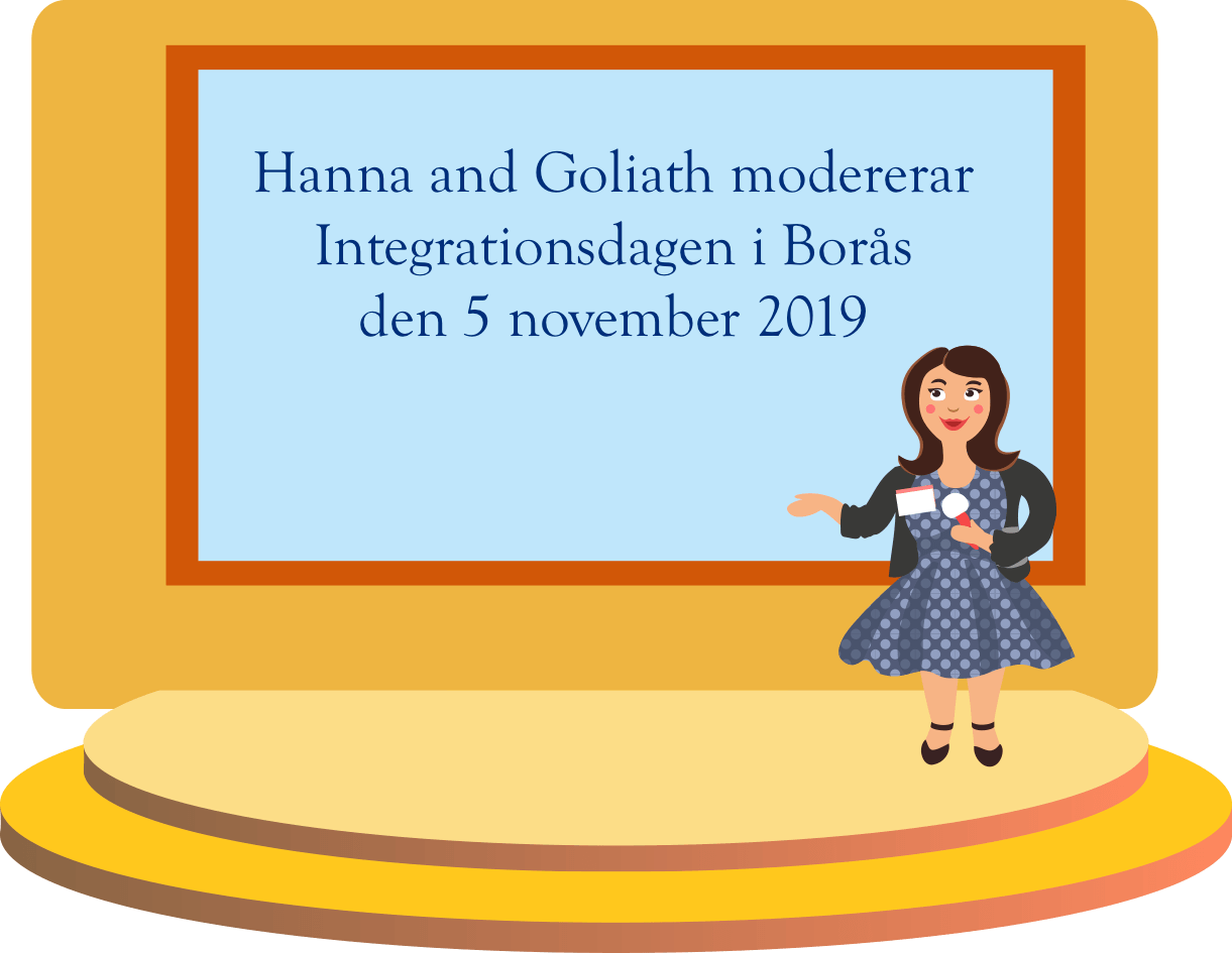 Hanna and Goliath modererar Integrationsdagen i Borås Stad
